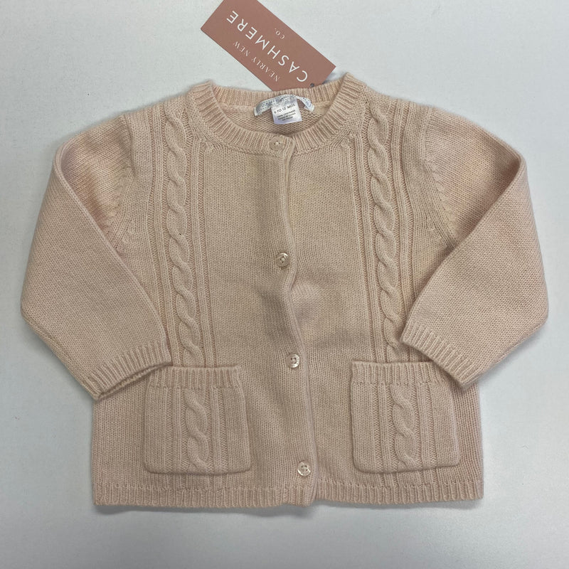 Children's Soft Pink Cable Knit Cardigan 12 Months