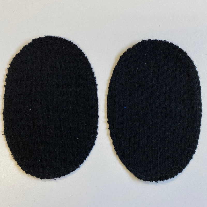Large Black Elbow Patches