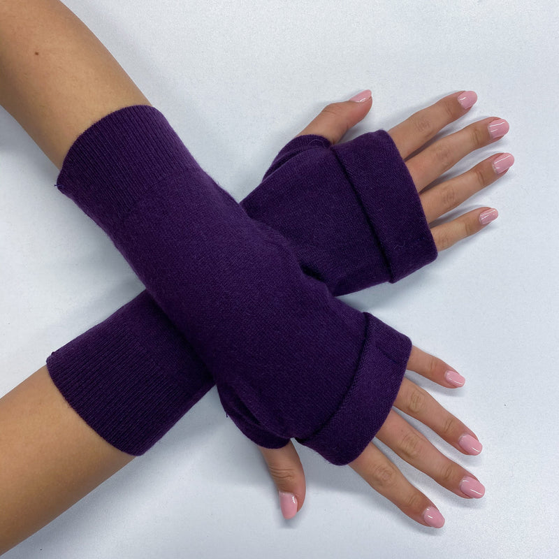 Iris Purple Fingerless Gloves