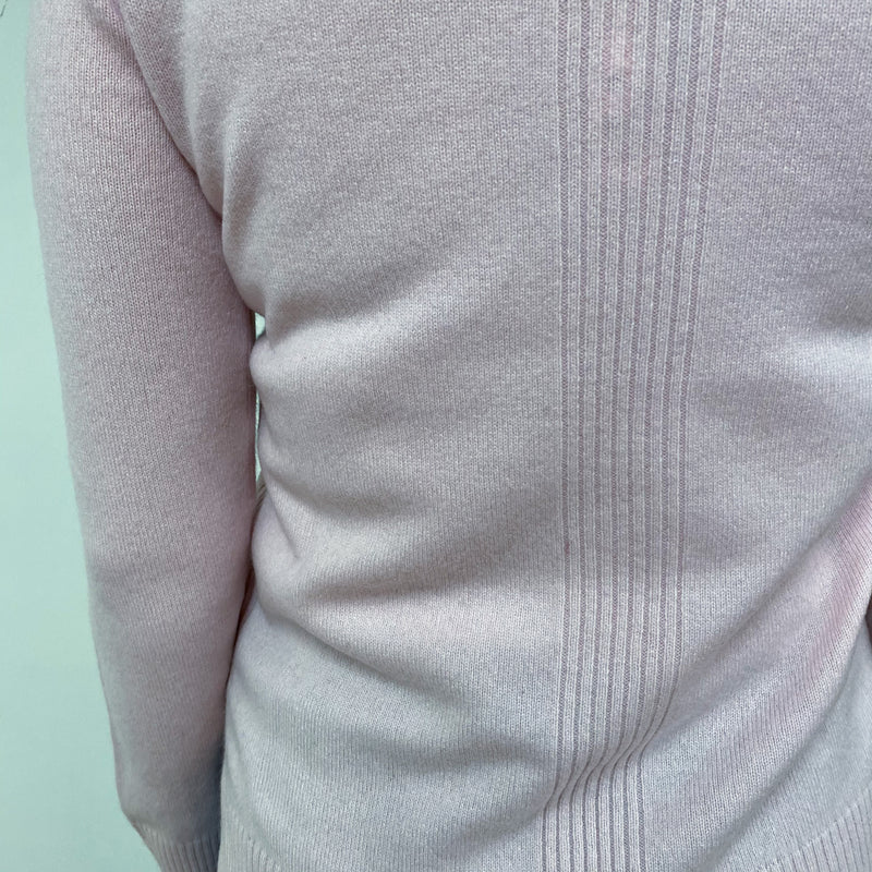 Baby Pink Tunic Style Crew Neck Jumper Small