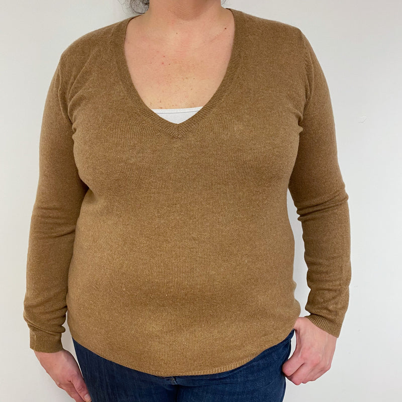 Gingerbread V Neck Jumper Extra Large
