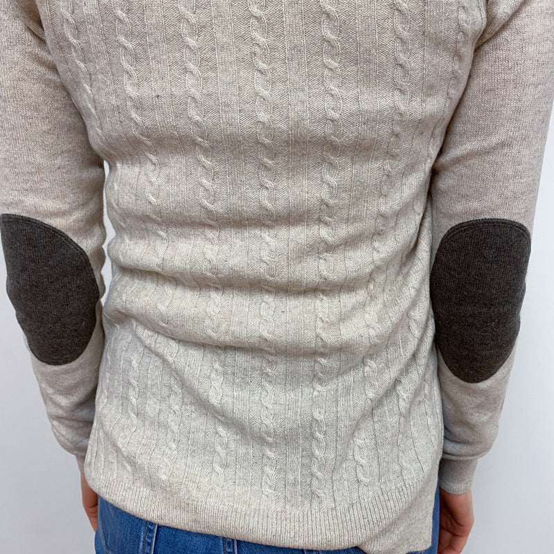 Oatmeal Scoop Neck Jumper Small
