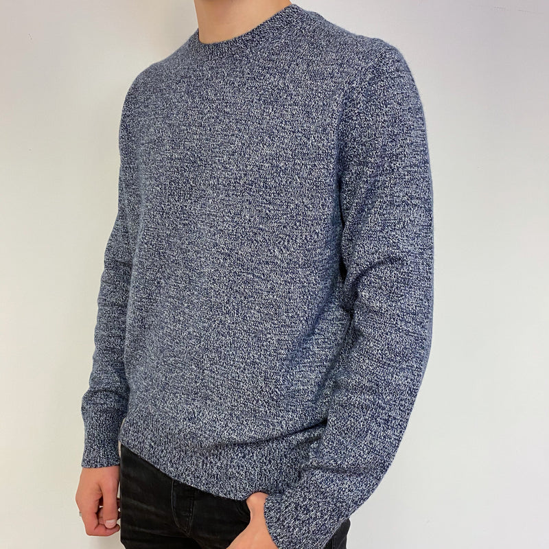 Men's Marl Knit Crew Neck Jumper Extra Large