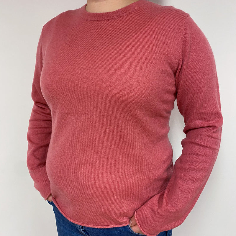 Old Rose Pink Crew Neck Jumper Large