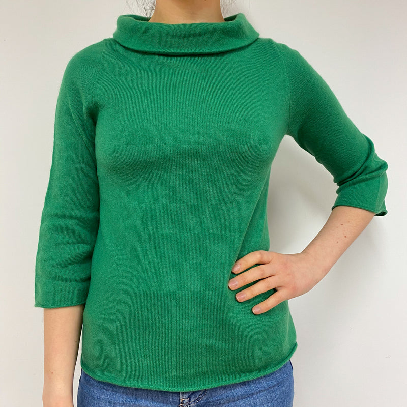 Apple Green Polo Neck Jumper Small