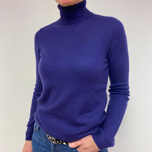 Grape Purple Polo Neck Jumper Medium