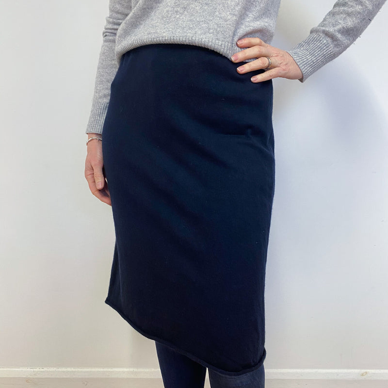 Navy Blue Midi Skirt Medium