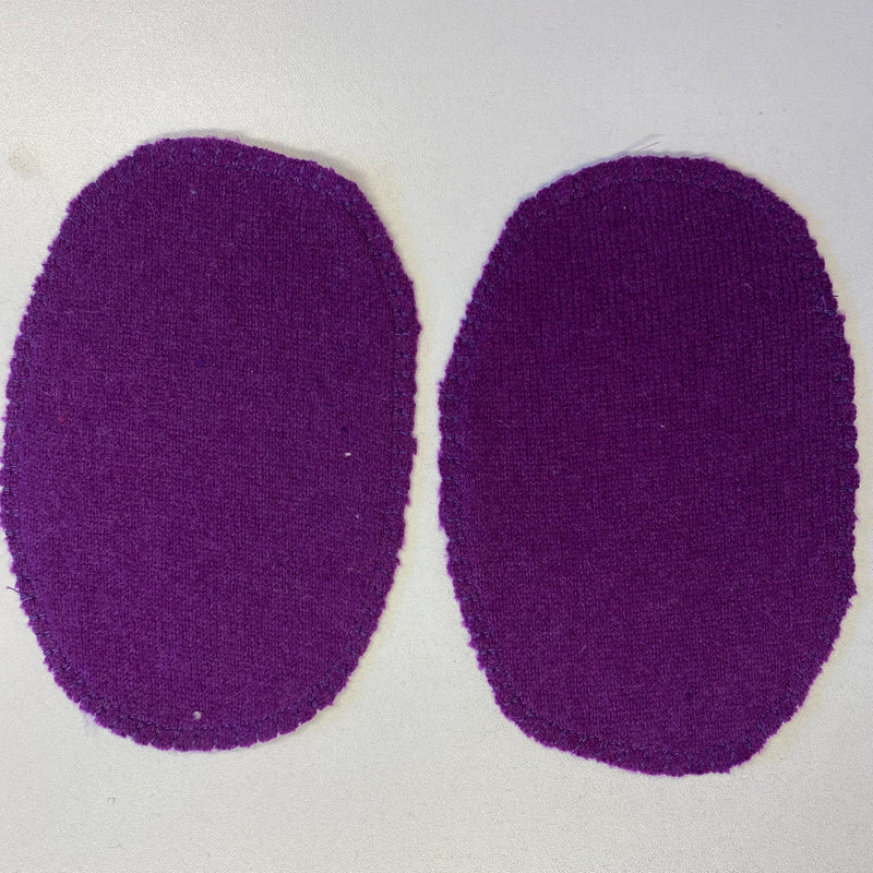 Large Elbow Patches Berry Purple