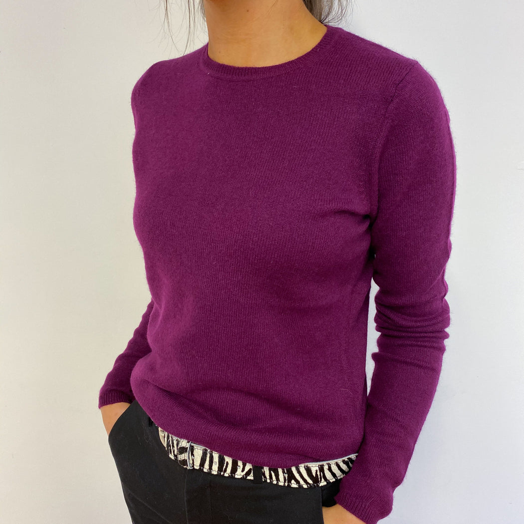 Blackberry Crew Neck Jumper Small