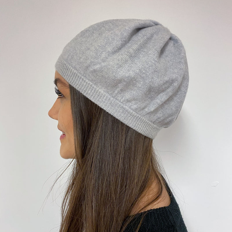 Pretty Grey Beret Hat One Size