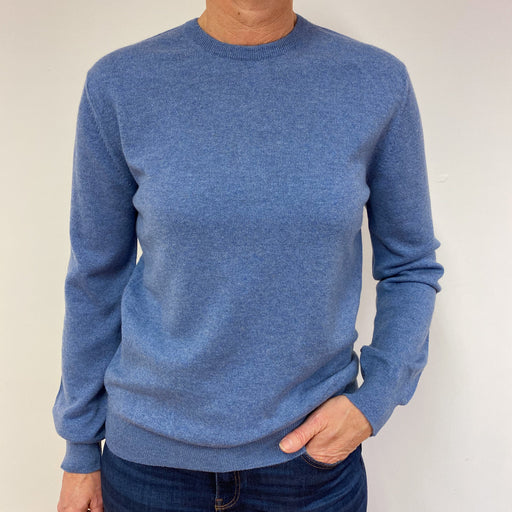 Brand New Scottish Denim Blue Crew Neck Jumper