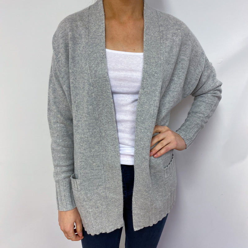 Pale Grey Oversized Cardigan Small