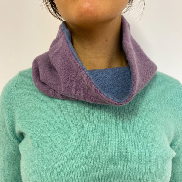 Reversible Washed Purple & Denim Neck Warmer