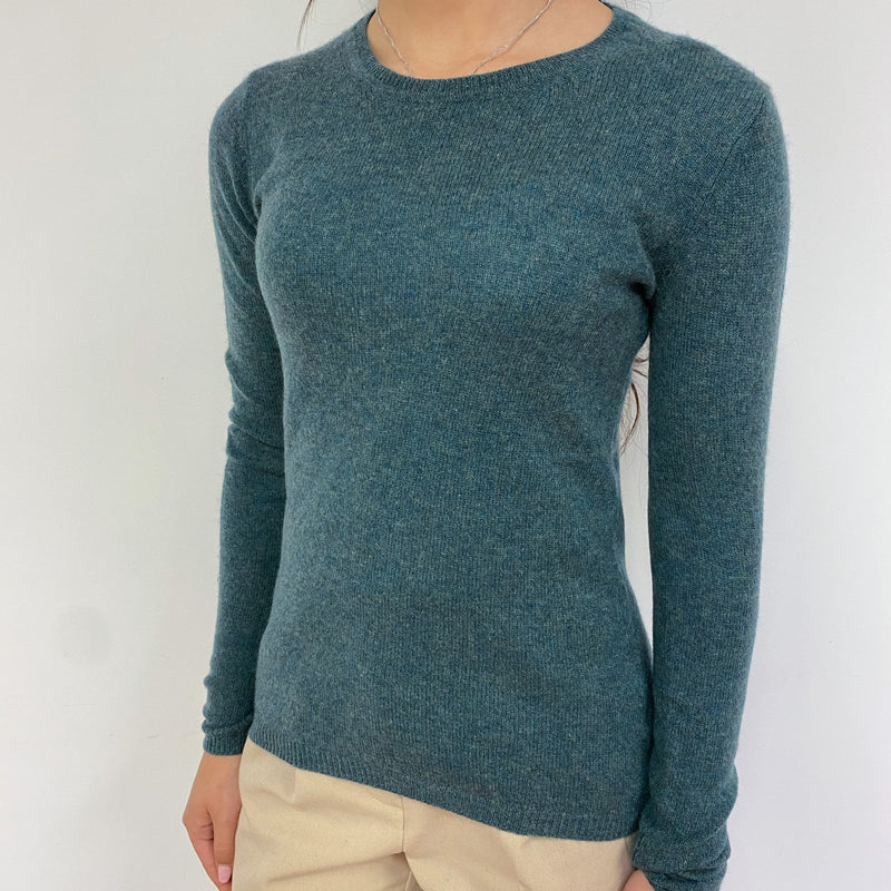 Spruce Green Crew Neck Jumper Extra Small