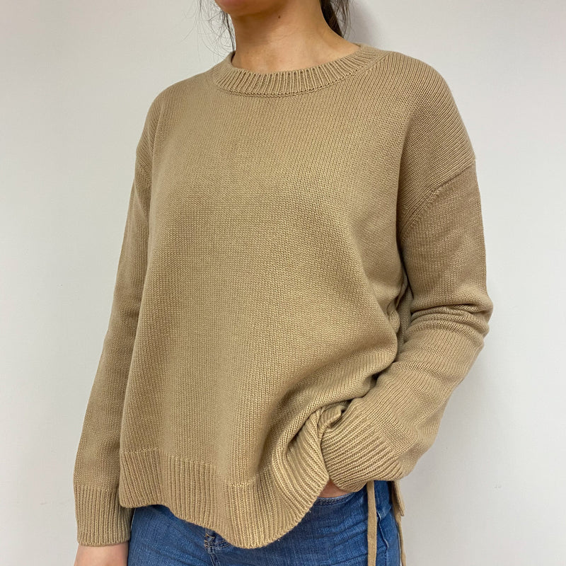 Designer Slouchy Chunky Knit Crew Neck Jumper Small