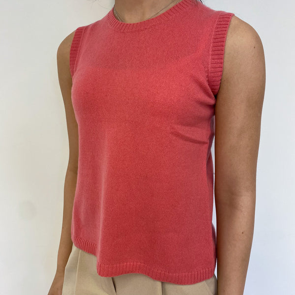 French Rose Pink Tank Top Extra Small