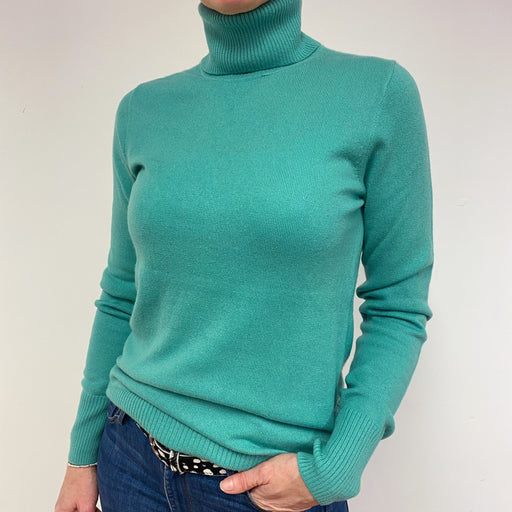 Seafoam Green Polo Neck Jumper Medium