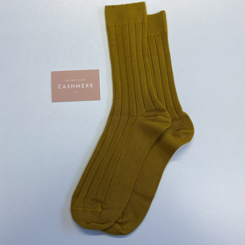Brand New Mustard Men's Cashmere Socks