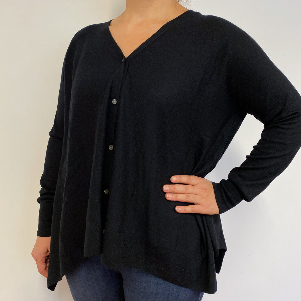 Lovely Black Tunic Style Cardigan Large