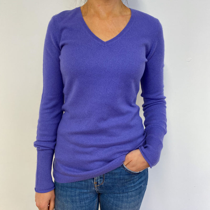 Lavender V Neck Jumper Small