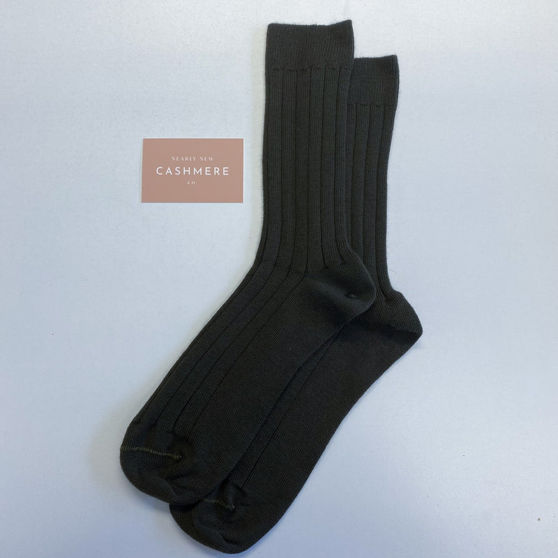 Brand New Peppercorn Men's Cashmere Socks