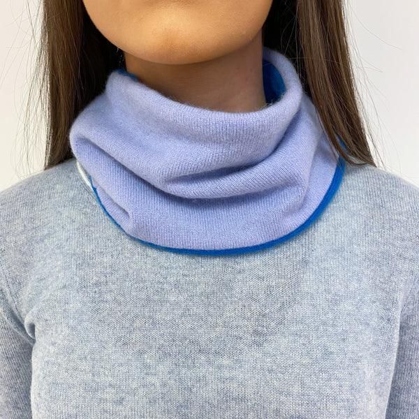 Sky and Azure Blue Neck Warmer