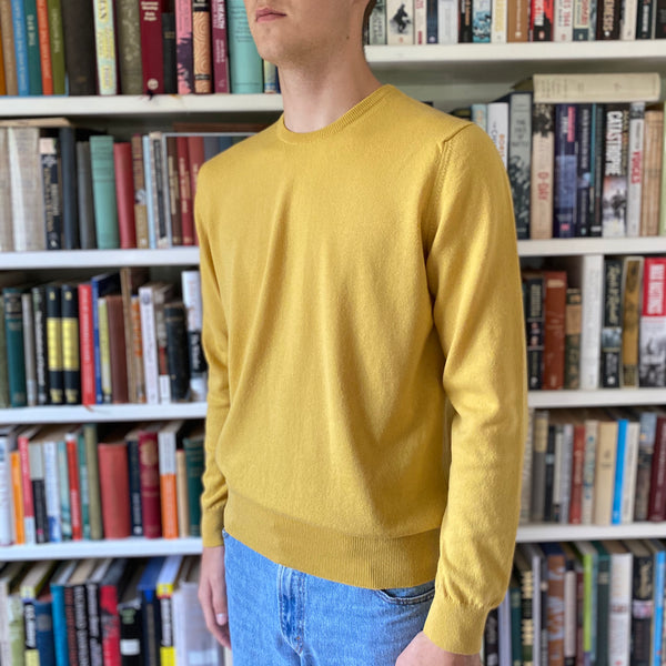 Men's Limited Edition Autumn Gold Crew Neck Jumper Large