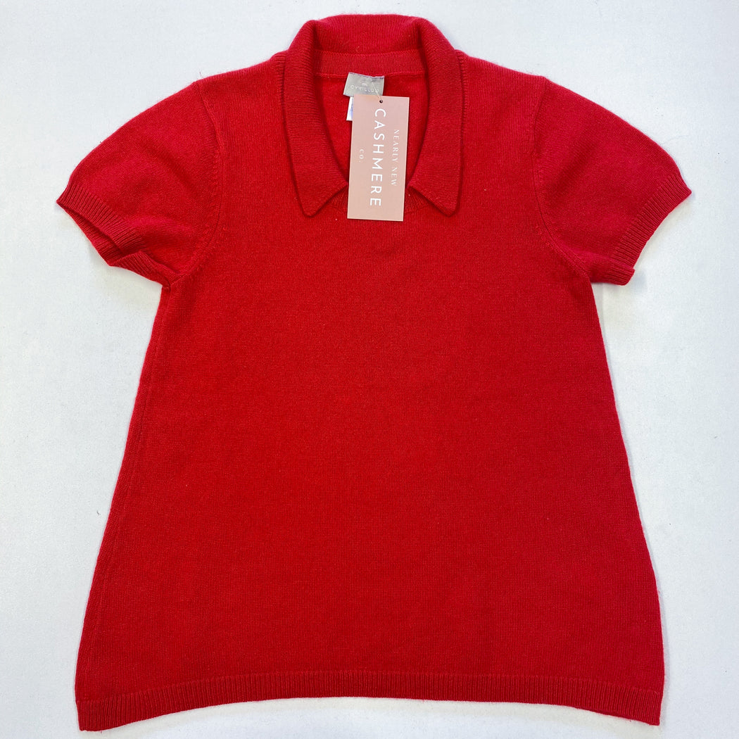 Children's Age 10 Red Collared Top/Dress