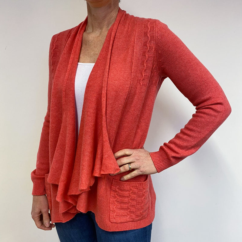 Coral Waterfall Cardigan Medium