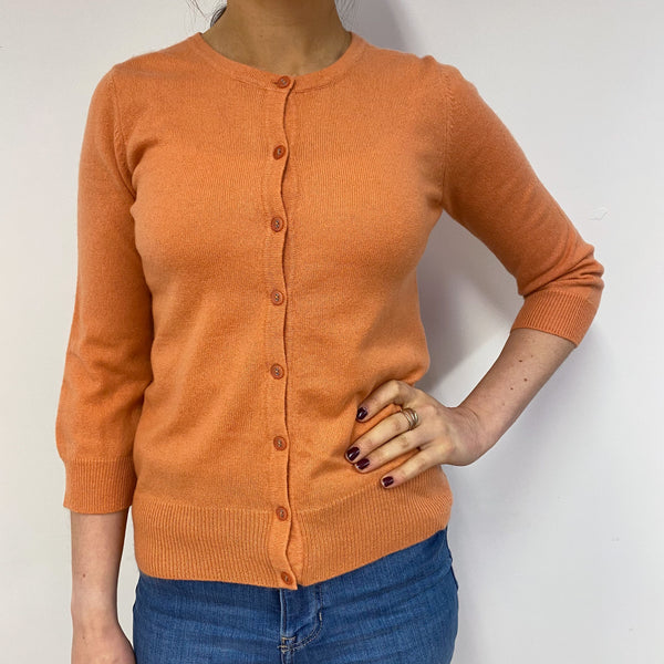Peach Crew Neck Cardigan Small