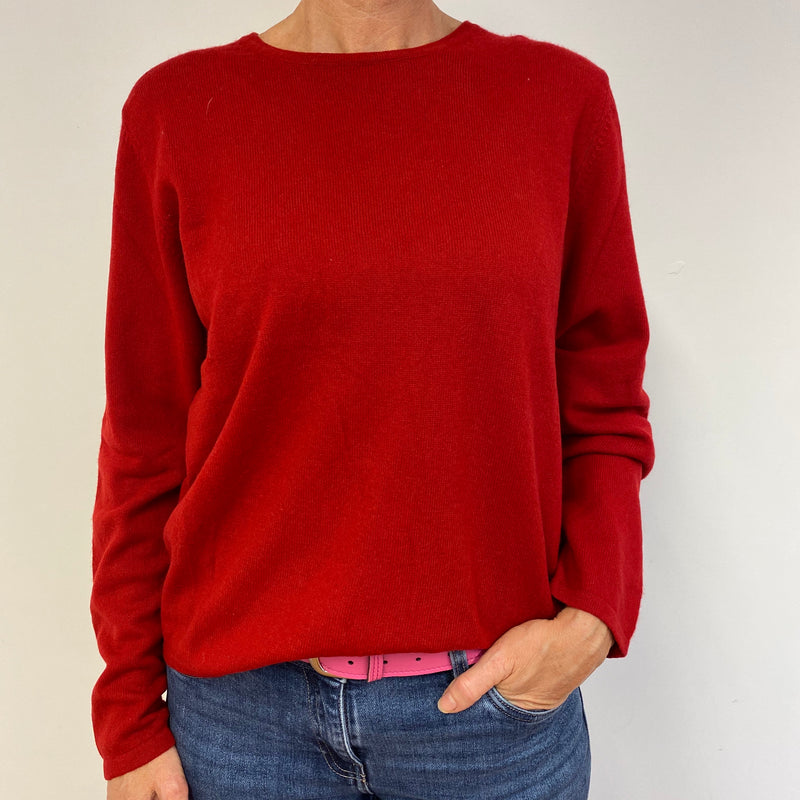 Postie Red Crew Neck Jumper Large