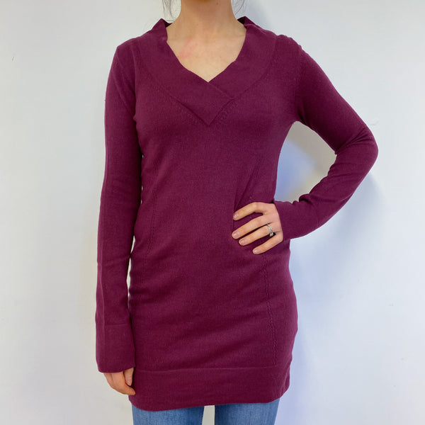 Beetroot V Neck Tunic Style Jumper Small