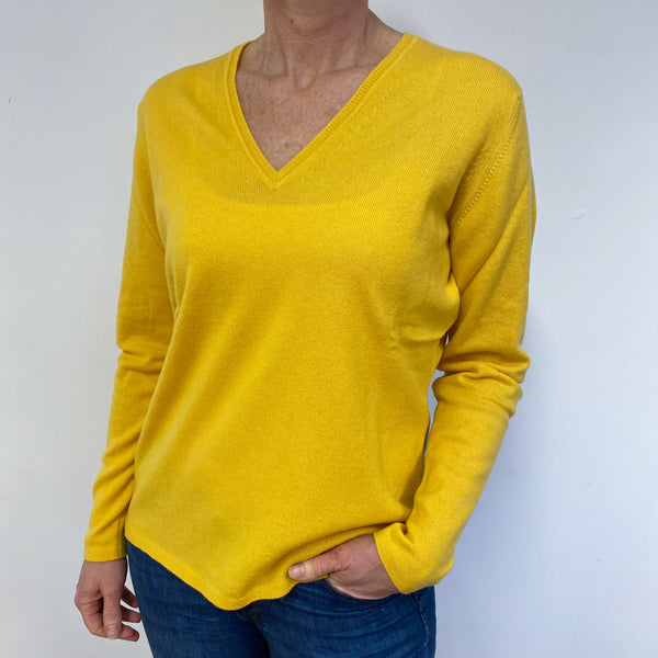 Brand New Scottish Sunrise Yellow V Neck Jumper