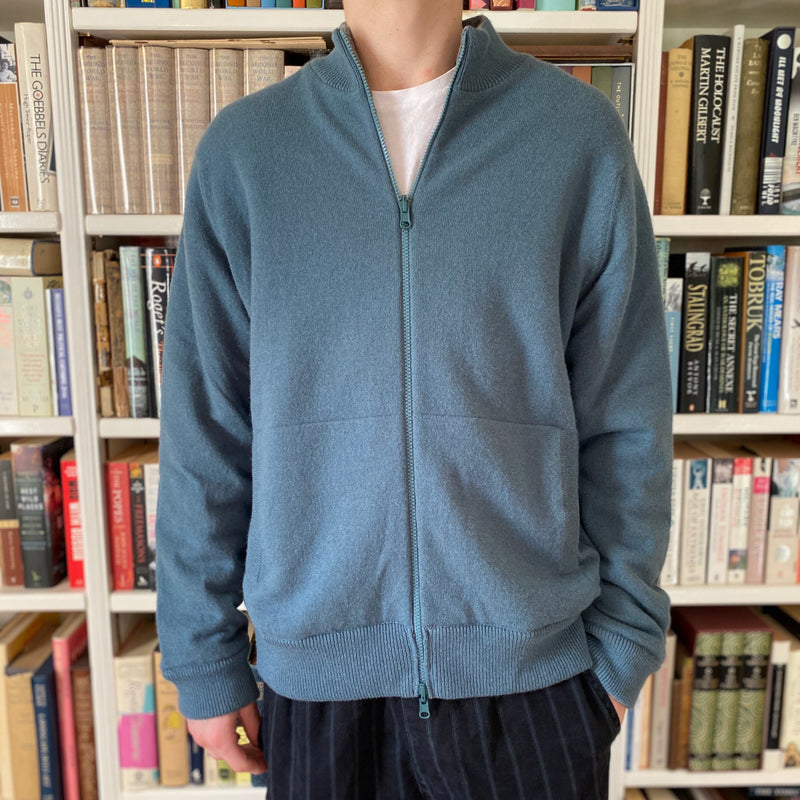Men's Limited Edition Grey & Sage Reversible Zip 'Fleece' Extra Large