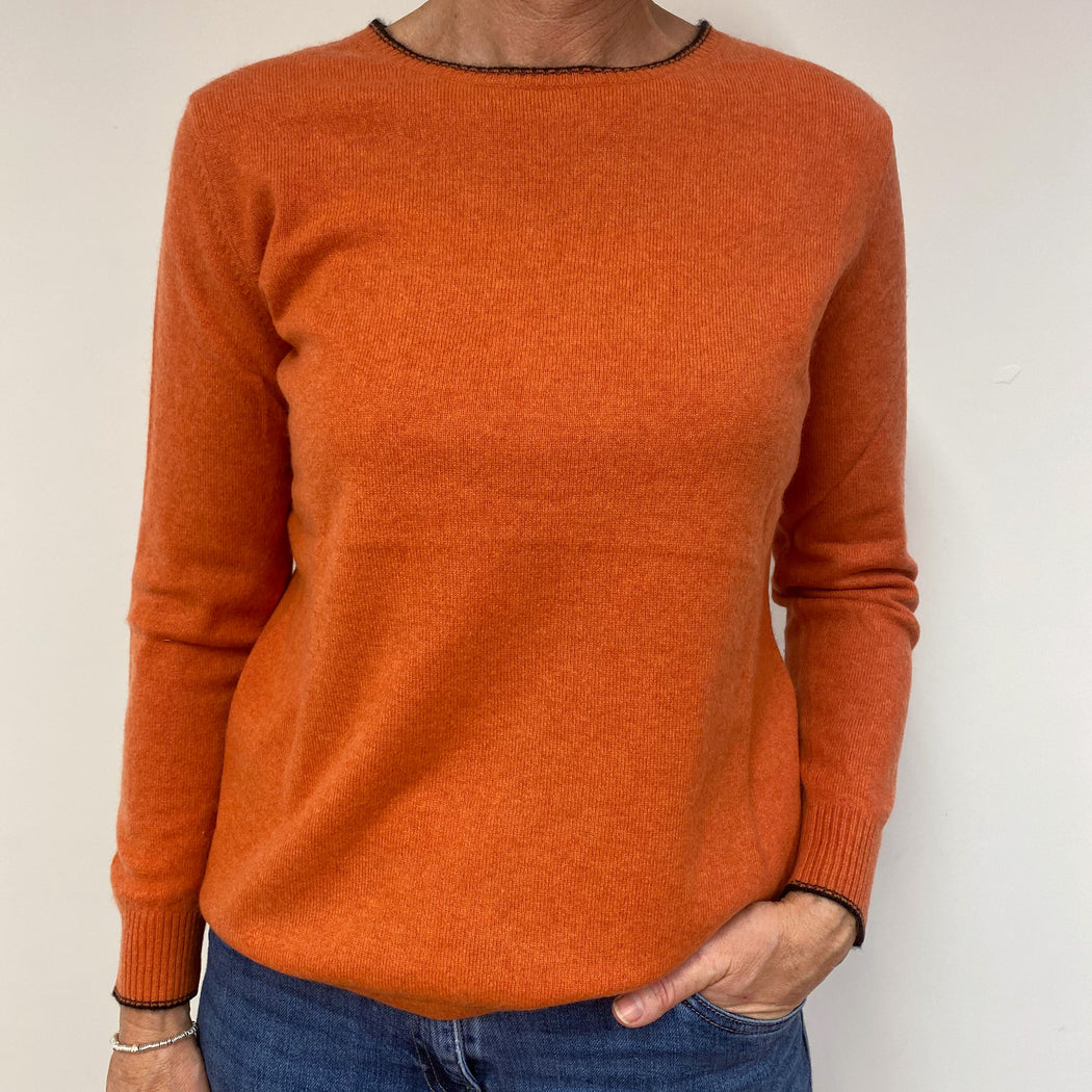 Sunset Orange Crew Neck Jumper Medium