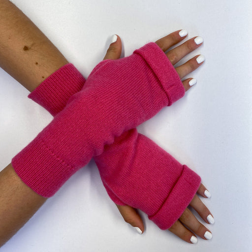 Flamingo Pink Fingerless Gloves