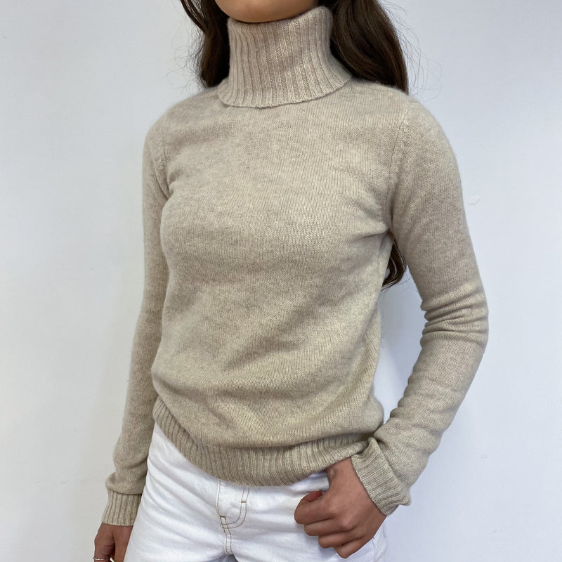Oatmeal Polo Neck Jumper Extra Small