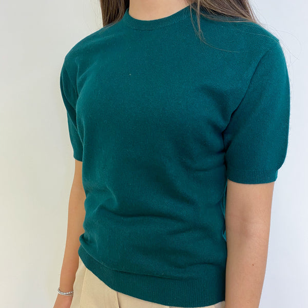Bottle Green Crew Neck Vintage Tee Extra Small