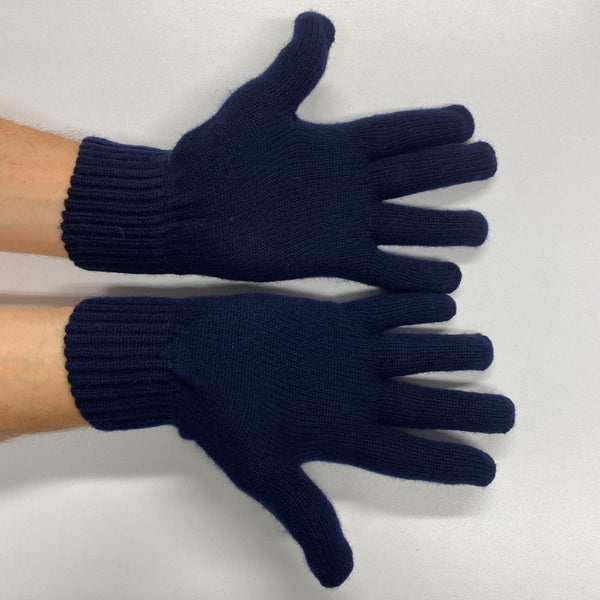 Men's Brand New Navy Cashmere Gloves