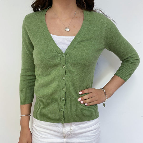 Pear Green V Neck Cardigan Extra Small Petite