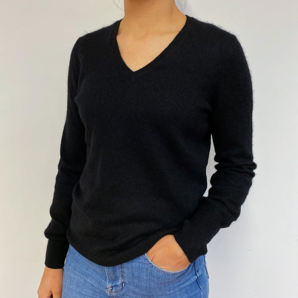 Black V Neck Jumper Small