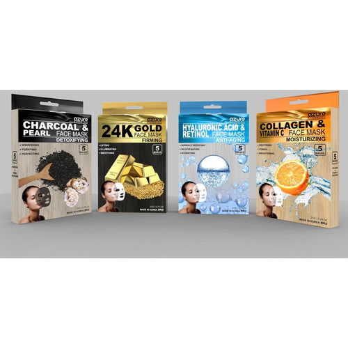 Premium Korean Face Masks - 5 Pack