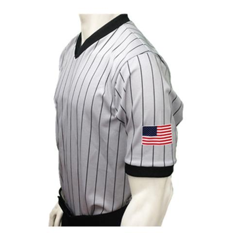 SMITTY USA BASKETBALL DYE SUBLIMATED GREY PIN STRIPE WITH USA FLAG