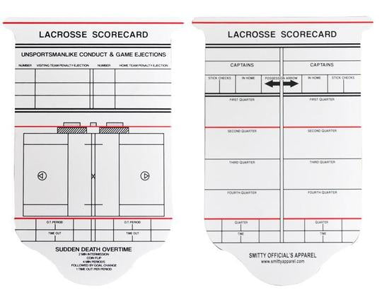 Collegiate Lacrosse Reusable Game Card