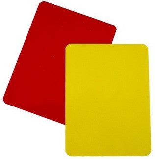 Referee Red and Yellow Warning Cards