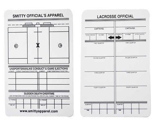 Plastic Reusable LACROSSE Game Card