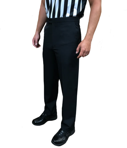 BASKETBALL AND WRESTLING REFEREE PANTS - FLAT 4-WAY STRETCH, TAPERED FIT