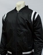 Smitty Collegiate Style Black Jacket w/ Black & White Side Insets