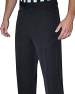 Smitty 4-Way Stretch Black Flat Front Pants w/ Western Cut Pockets