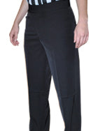 WOMEN'S BASKETBALL AND WRESTLING REFEREE PANTS - FLAT 4-WAY STRETCH. WESTERN POCKETS